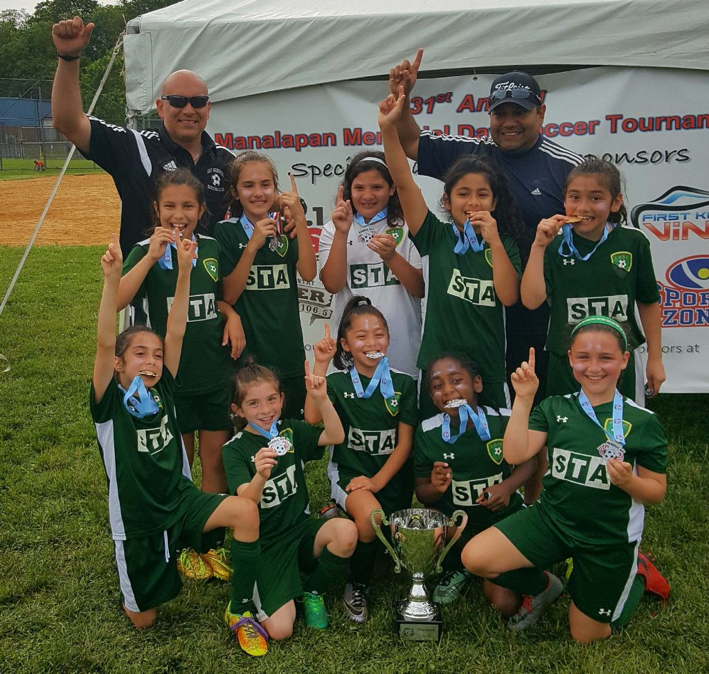 EBSC Santos '07 Champions at the Manalapan Memorial Day Tournament
