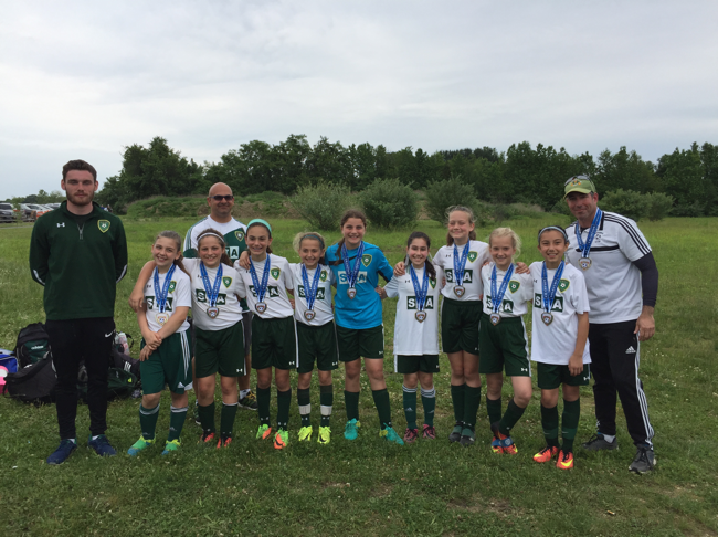 EBSC Crush 06 Girls Champions at the Sunburst Tournament